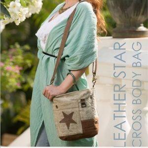 Handbags - Myra leather star small crossbody purse NWT